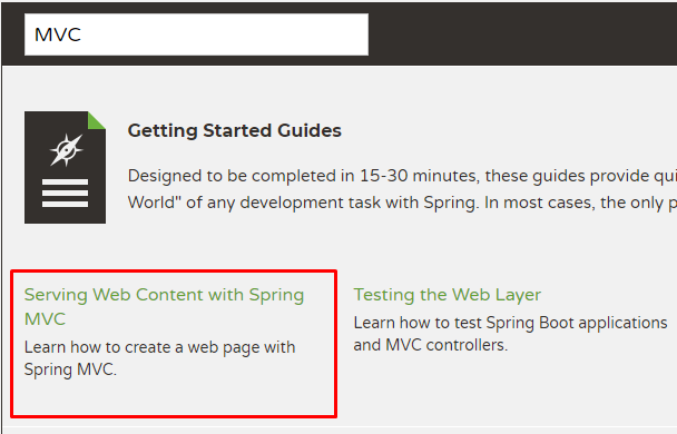 Spring Guides MVC